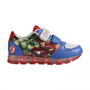 Avengers 2300-2648 Chaussons Sneaker Mixte Enfant, Baskets Mode, Led, Multicolore, Captain America, Iron Man, Thor, Hulk (27) de la marque The Avengers image 0 produit