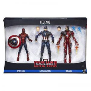 Captain America Civil War Marvel Legends: Marvel Legends 3-Pack Version Anglaise [B8215] de la marque Marvel image 0 produit