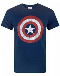 Captain America Distressed Logo Men's T-Shirt de la marque Captain America image 0 produit