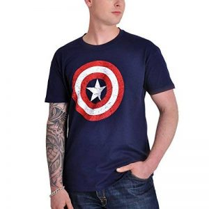 Captain America Distressed Logo Men's T-Shirt (L) de la marque Marvel image 0 produit