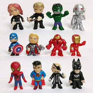 channeltoys Lot de 12pcs figurine Super Héros - Hulk iron man spiderman thor - Neuf de la marque channeltoys image 0 produit