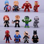 channeltoys Lot de 12pcs figurine Super Héros - Hulk iron man spiderman thor - Neuf de la marque channeltoys image 1 produit