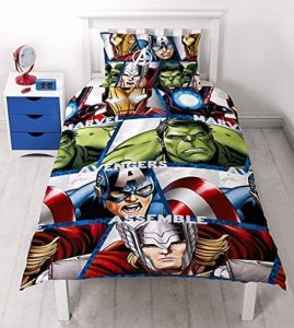Character World Parure de Lit Simple Réversible Multicolore Motif Marvel, Les Agents du Shield de Disney 91 cm de la marque Character World image 0 produit