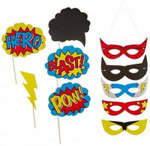 Ginger Ray Super-héros Parti Photo Booth Props & Masques - Comics Super-héros de la marque Ginger Ray image 0 produit