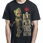 Guardians Of The Galaxy Gardiens du T-shirt des hommes Galaxy bébé bouton Groot à Vol. 2 Marvel coton noir de la marque Guardians Of The Galaxy image 3 produit