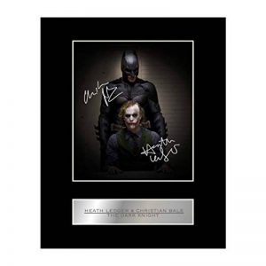 Heath Ledger et Christian Bale Photo dédicacée encadrée The Dark Knight de la marque Iconic pics image 0 produit