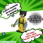 Kids Corner Productions® - Super Heroes Lego Figures 9 Set Mini Figures Marvel aKids Corner Productions® et DC Comics - Party Bag avec Batman, Spiderman, IronMan, Thor, DeadPool, Wolverine, Captian America, Hawkeye et The Hulk - Compatible avec Lego de la image 1 produit