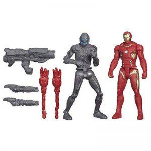 Marvel – Avengers: Age of Ultron – Iron Man Mark 45 Vs. Sub-Ultron 010 – 2 Figurines 6 cm de la marque Marvel image 0 produit