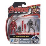 Marvel – Avengers: Age of Ultron – Iron Man Mark 45 Vs. Sub-Ultron 010 – 2 Figurines 6 cm de la marque Marvel image 1 produit