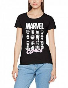 Marvel Comics Multi Heads Ladies, T-Shirt Femme de la marque Marvel image 0 produit