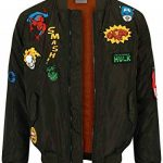 Marvel Comics Retro Jacket Men's Green Bomber with Hero Patches Green de la marque Marvel Comics Retro image 2 produit