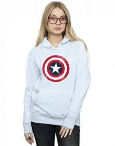 Marvel Femme Captain America Distressed Shield Sweat à capuche de la marque Marvel image 0 produit