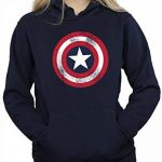 Marvel Femme Captain America Distressed Shield Sweat à capuche de la marque Marvel image 3 produit