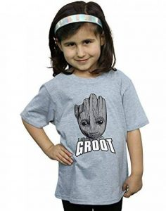 Marvel Fille Guardians of The Galaxy Groot Face T-Shirt de la marque Absolute Cult image 0 produit