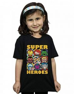 Marvel Fille Kawaii Super Heroes T-Shirt de la marque Absolute Cult image 0 produit