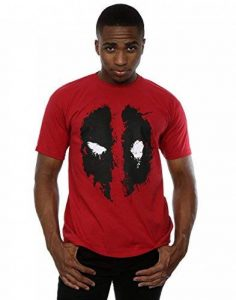 Marvel Homme Deadpool Splat Face T-shirt, Rouge - Rouge brique, XX-Large de la marque Marvel image 0 produit