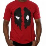 Marvel Homme Deadpool Splat Face T-shirt, Rouge - Rouge brique, XX-Large de la marque Marvel image 3 produit