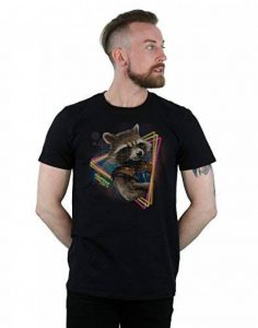 Marvel Homme Guardians of the Galaxy Neon Rocket T-Shirt Small Noir de la marque Marvel image 0 produit