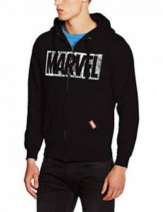 Marvel Logo Distress Zip Hood, Sweat-Shirt à Capuche Homme de la marque Marvel image 0 produit