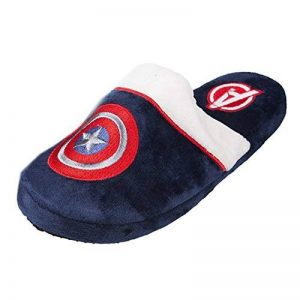 Marvel Officiel Comics Captain America Shield Logo Mule adultes Slip sur chaussons de la marque Marvel image 0 produit