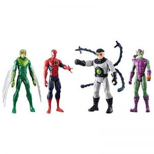 Marvel – Titan Hero Series – Spiderman, Le Vautour, Doc Ock et Green Goblin – 4 Figurines 30 cm de la marque Marvel image 0 produit