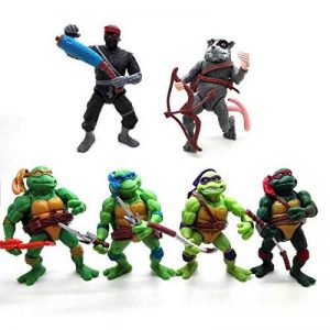 onogal 6x Les figurines des Tortues Ninja Donatello Raphael Michelangelo Leonardo Splinter Shredder 4677 de la marque onogal image 0 produit