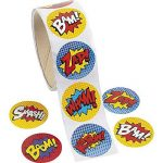 Paquet de 100 - Superhero thème Autocollants - Idéal pour les X-Men, Spiderman, Marvel Super Heroes Party Loot Sacs (Pack of 100 - Superhero Stickers) de la marque Express Fun Ltd image 1 produit