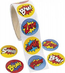 Paquet de 100 - Superhero thème Autocollants - Idéal pour les X-Men, Spiderman, Marvel Super Heroes Party Loot Sacs (Pack of 100 - Superhero Stickers) de la marque Express Fun Ltd image 0 produit