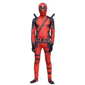 QQWE Marvel Deadpool Costume De Déguisement Adultes Enfants Halloween Cosplay Costume Body Spandex Combinaisons Cosplay Ensemble Complet De Vêtements,A-Children-XL de la marque QQWE image 0 produit