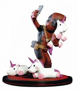 Quantum Mechanix Marvel Deadpool Unicorn Selfie Q Fig Figurine de la marque Quantum Mechanix image 0 produit