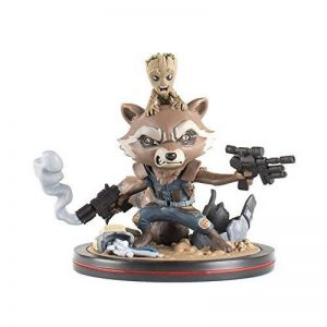 Quantum Mechanix Qmvl018 a Rocket et Groot Q-Fig Diorama, Multi Couleur de la marque Quantum Mechanix image 0 produit
