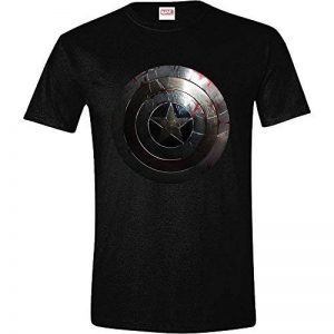 Tshirt Captain America Marvel - Captain Shield Silver de la marque Marvel image 0 produit